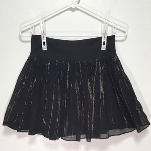H&M Black Gold Mini Skater Skirt